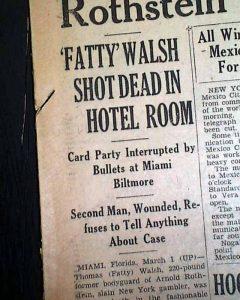 """Biltomore Hotel Ghosts - Thomas """"Fatty"""" Walsh"""