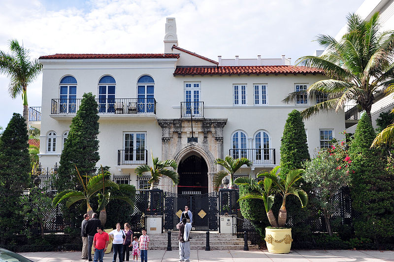 The exterior of Villa Casuarina - Home of spooks and ghosts long before Gianni Versace was murdered there