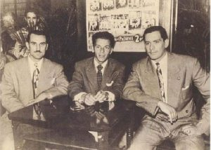 Frank Sinatra with mobsters. Hauntings at Villa Paula . Miami Ghost Tours.