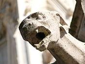 photo closeup of gargoyle at notre dame