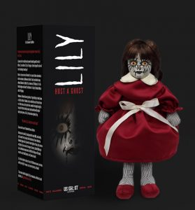Haunted Doll Lily package and figurine.